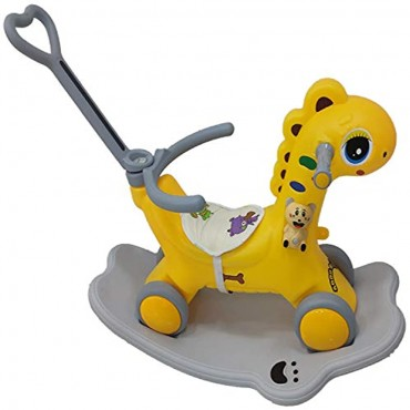 YASHAV 2 in 1 Dinosaur Rider Animal Swing Musical Toy in Yellow Color (1-5 Yeas)