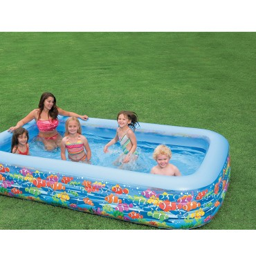 Kid2Kid 10 ft Inflatable Swimming Center Happy Fish Family 58485 Pool