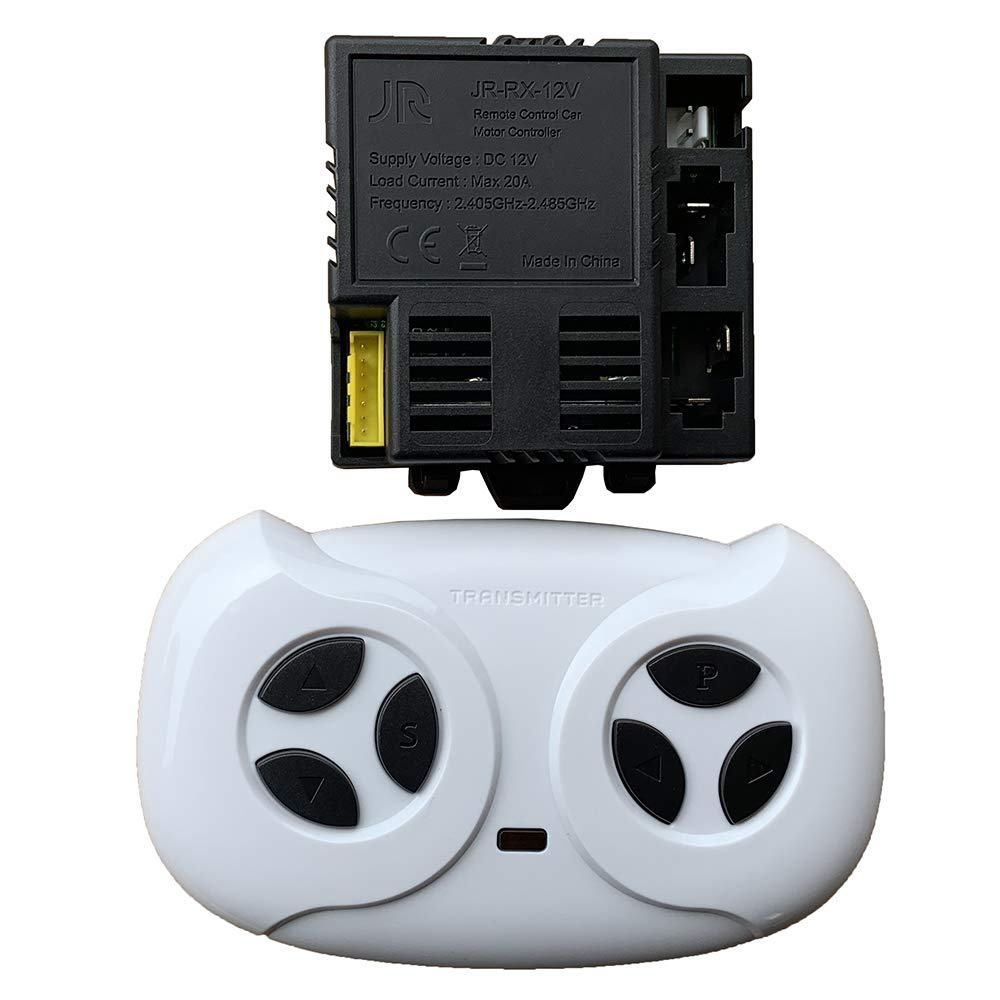 PATOYS Yellow Four-Sided Socket JR-RX-12V Kids Powered Ride On Car 2.4G Bluetooth Remote Control And Receiver Kit Controller Control Box