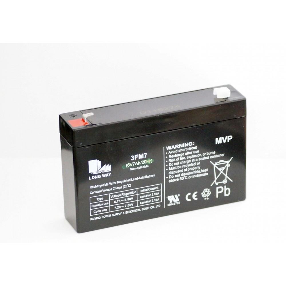 6V 7AH /20 HR Sealed Rechargeable Battery, Pack of 1 for ride ons children car and bikes