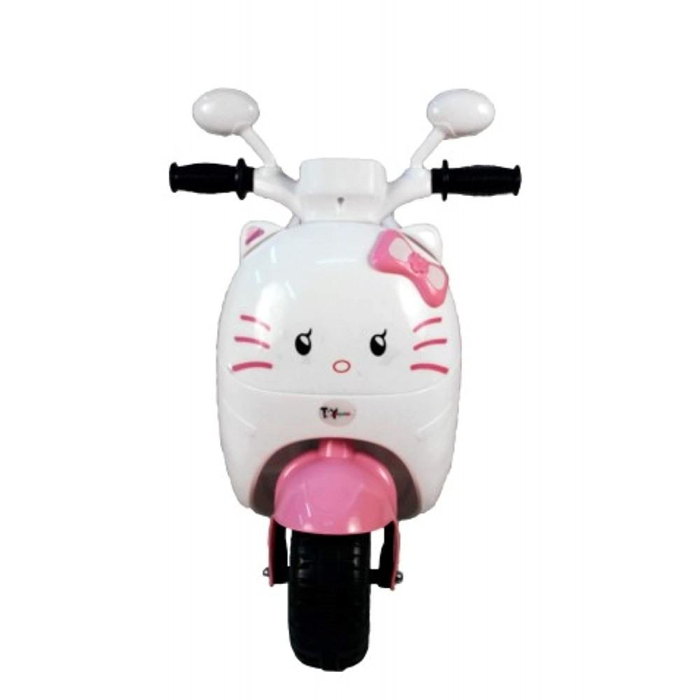 PATOYS Baby Scooter Battery Operated Ride on Bike with Music and Light 2-4 years