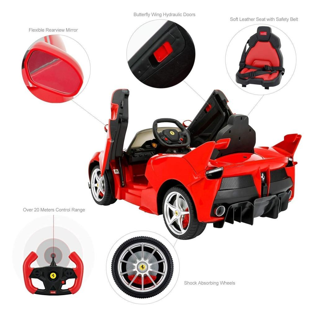 PATOYS 12V Ferrari FXX K Kids Electric Ride On Car Red