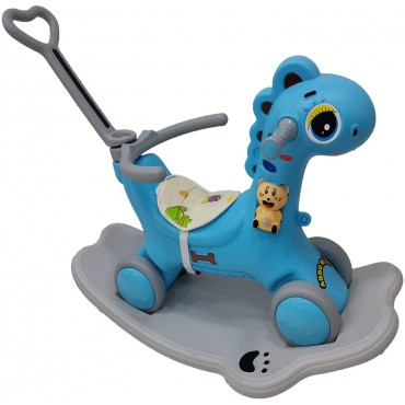 YASHAV 2 in 1 Dinosaur Rider Animal Swing Musical Toy in Blue Color (1-5 Yeas)