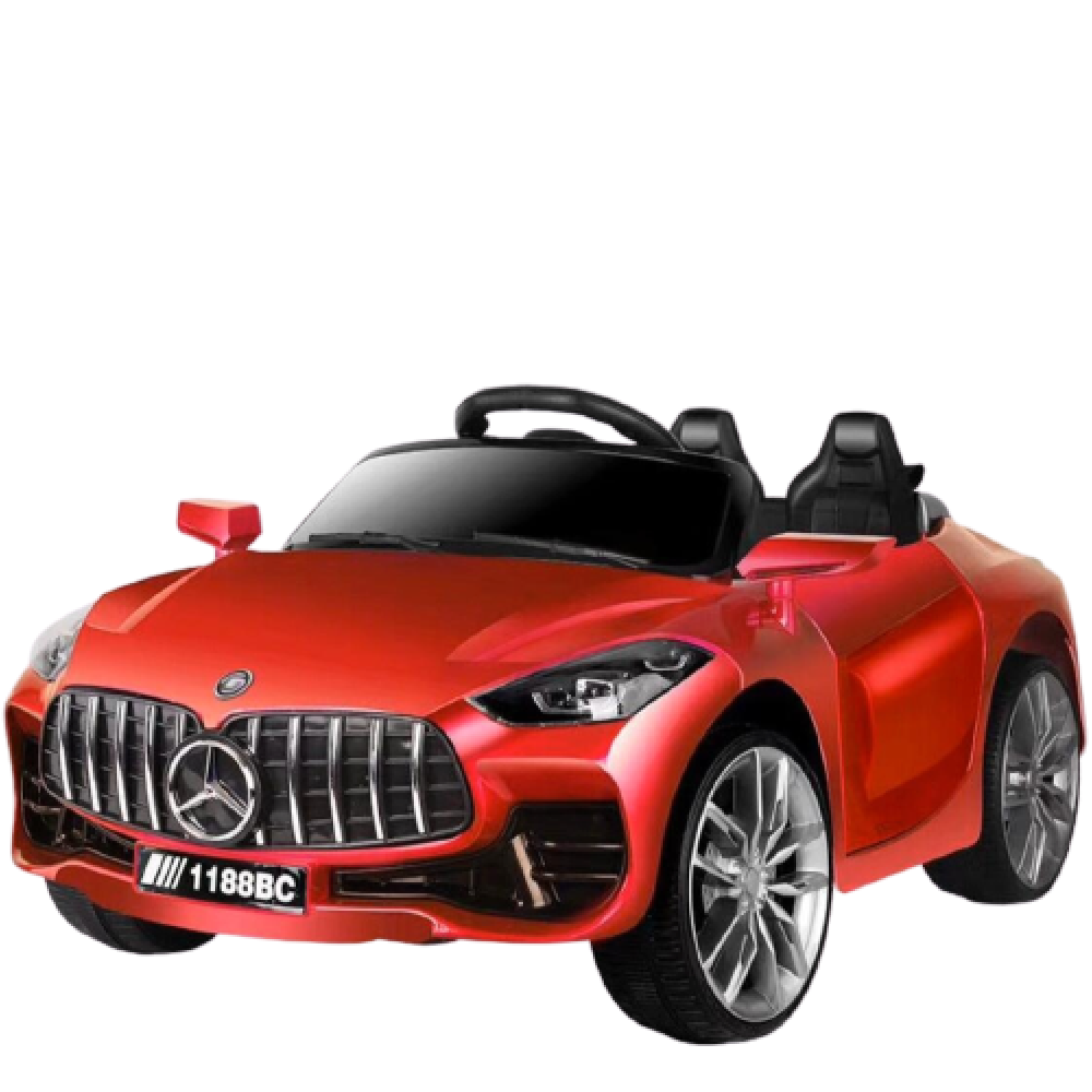PATOYS 998 Painted Battery Operated Ride on Car for Kids with Swing
