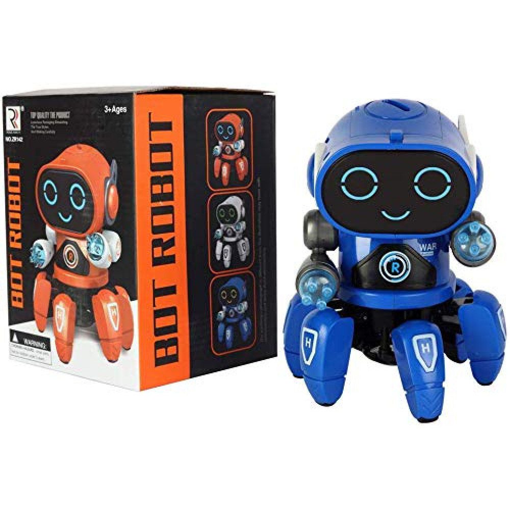 PATOYS Bot Robot Pioneer | Colorful Lights and Music | Dancing Robot Toys for Boys and Girls | Blue