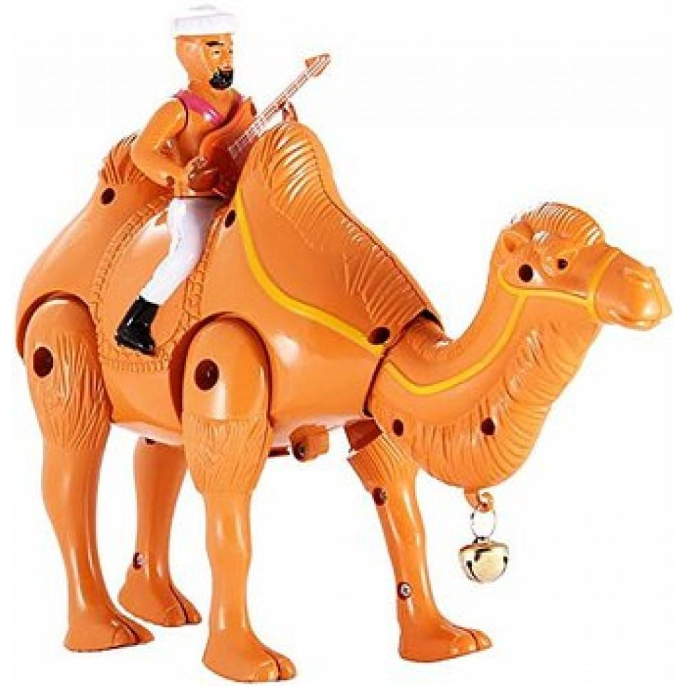 PATOYS Desert Hero Camel Walks with Music and Guitar Playing Man