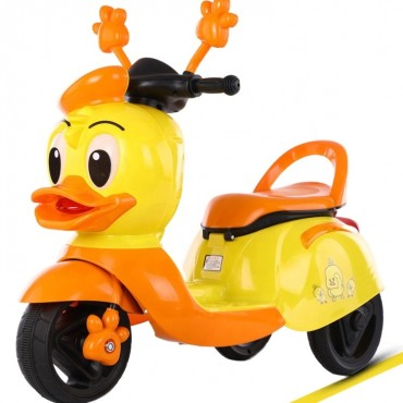 PATOYS - 6V CB308 Duck Ride On Battery Operated Bike Scooter For Kids Of Age 2 To 3 Years