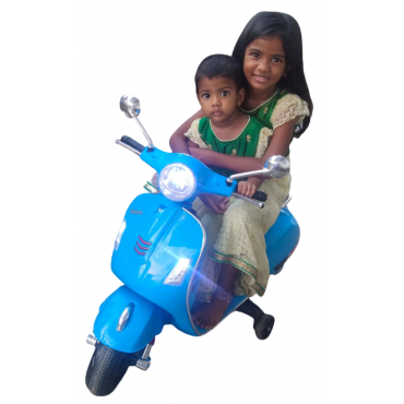 PATOYS Rechargeable Battery Operated 12v Ride-on Scooter for Kids (3 to 7 Years)