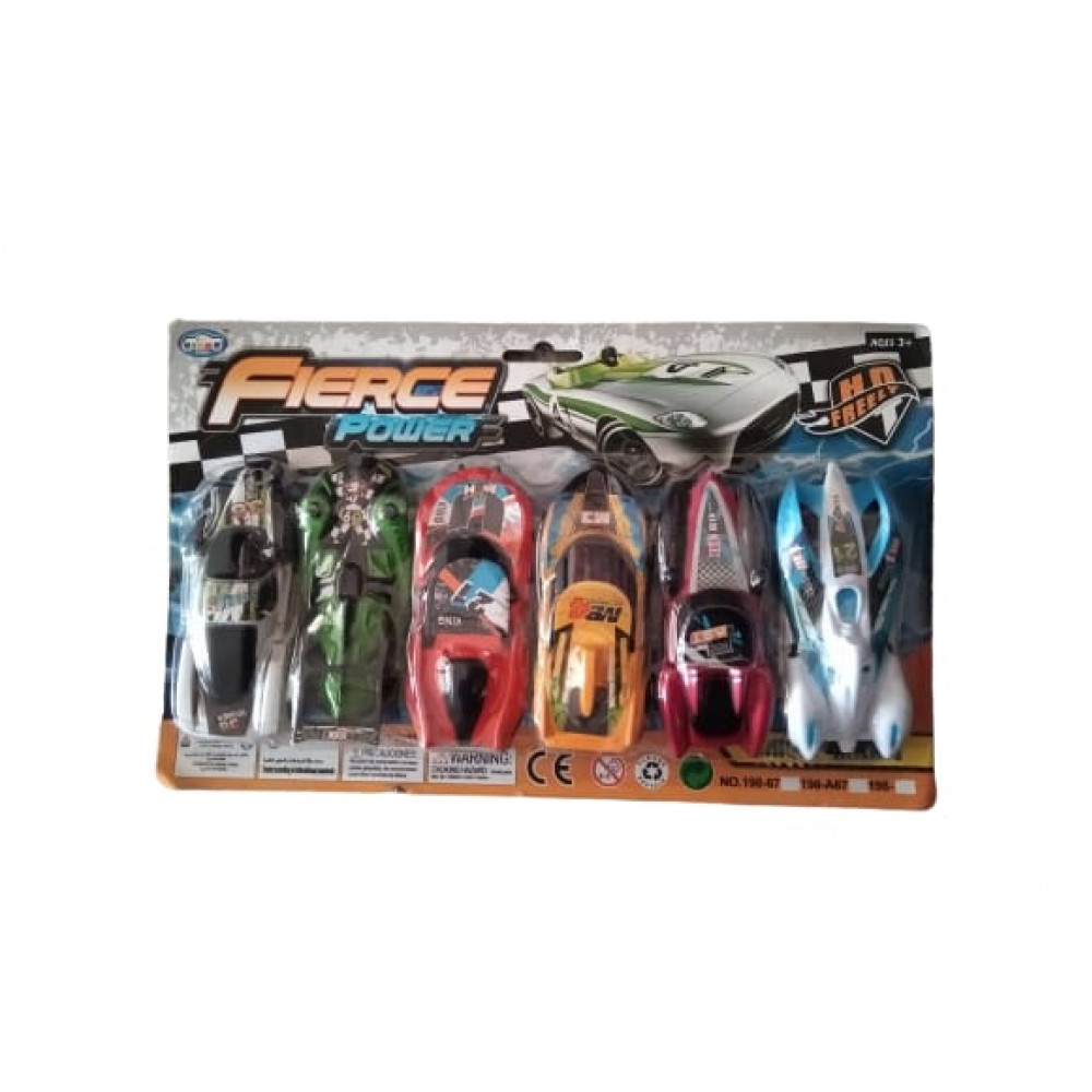 PATOYS 6 Pieces Fierce Power Unique Racing Cars Kids Toy Gift Pack for boy and girls