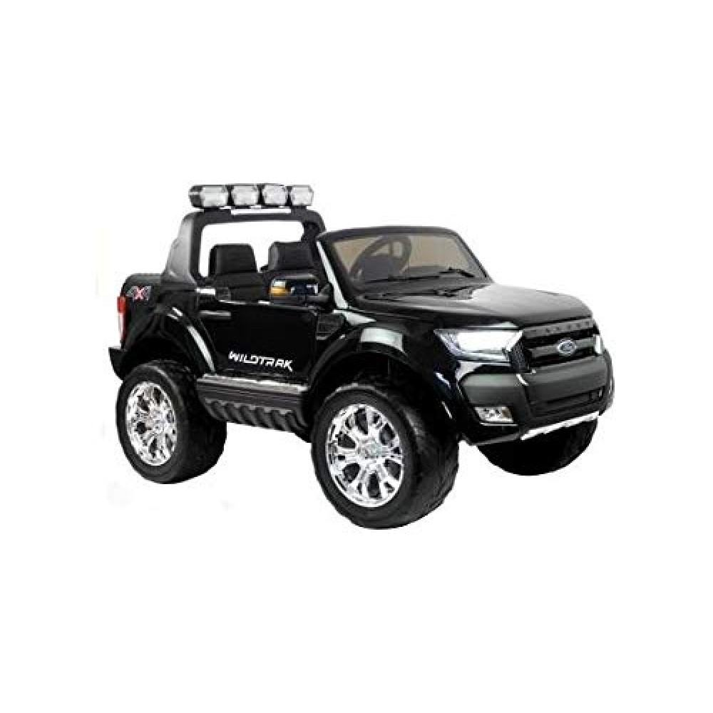 PATOYS Ride on Child electric car, Ford Ranger 24 volt Licensed  2 seats 4x4 - Black