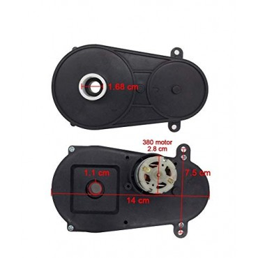 Steering Gearbox with Motor, RS380 12v Motor for Kids Powered Ride On Cars