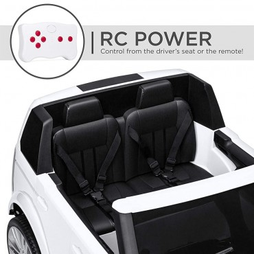 PATOYS 12V 2-Seater Land Rover Ride On Car Toy Parent Remote Control, MP3 Player
