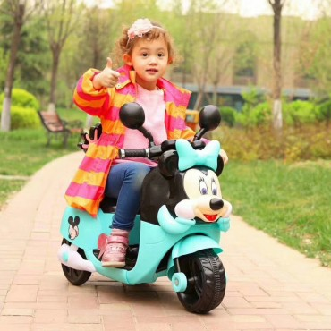 PATOYS 6V HLW-5188 Lovely minnie cartoon three wheel kids electric Bike scooter motorcycle For Kids Of Age 2 To 3 Years