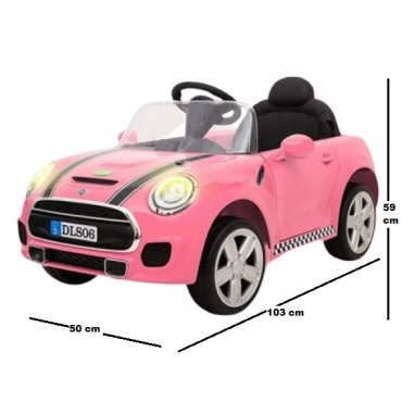 PATOYS Children Kids Electric Ride On Mini Cooper Car With Projector Up To 4 Years