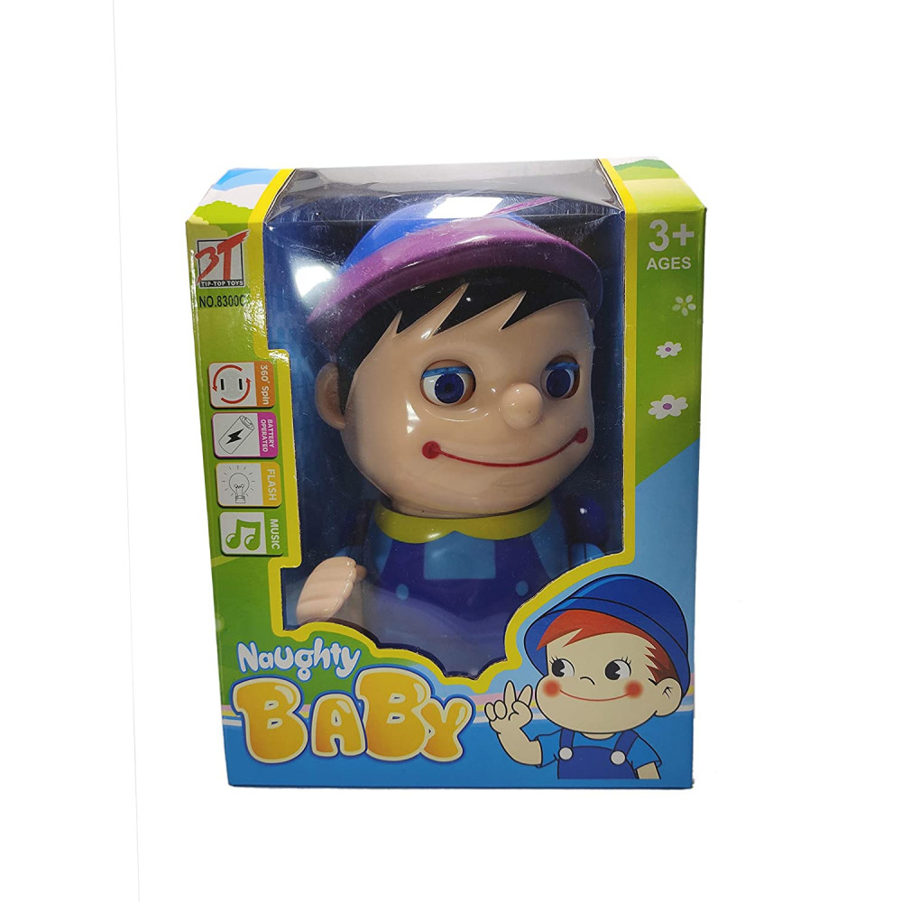 PATOYS Naughty Baby Boy Musical Crawling Toy with Mummy Papa Saying Sound, Birthday Gift for Kids
