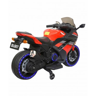 PATOYS DLS-07 Kids Rechargeable Battery Operated Ride on Ninja Bike with Music, Lights