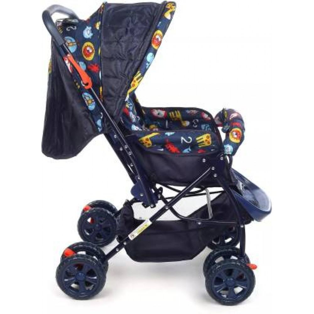 Sunshine Stroller/Pram, Easy Fold, for Newborn Baby, infant Kids, 0-3 Years (Blue)