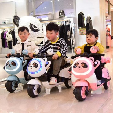 PATOYS - 6V 503 Panda ride on Battery Operated bike Scooter for kids of age 2 to 3 years