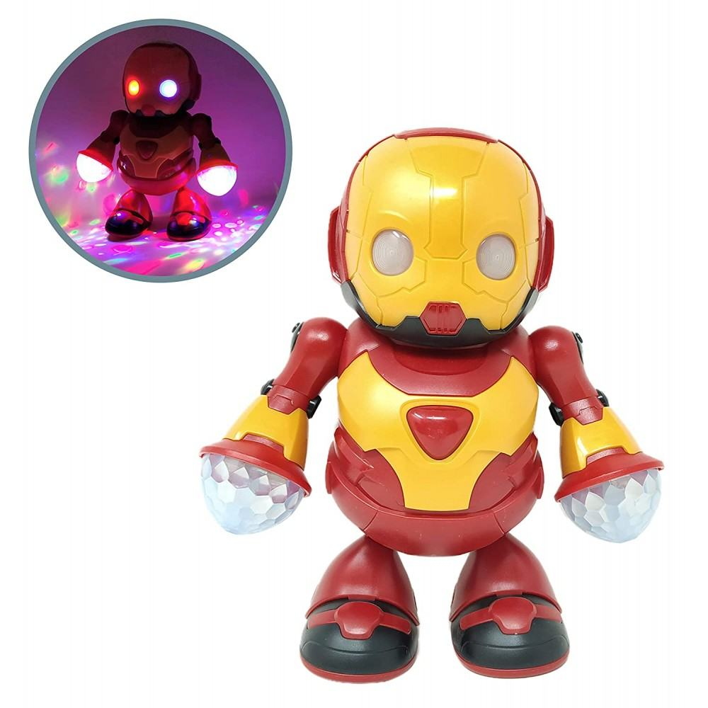 360 Degree Rotating Dancing Hero Robot with Bump n Go Action ,3D Lights and Music Toys for Kids