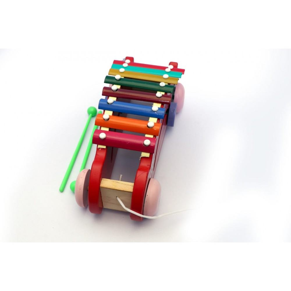 PATOYS 8 Note Car Wooden Xylophone for Kids Toddlers Children Best Musical Toy for Nursery Kids
