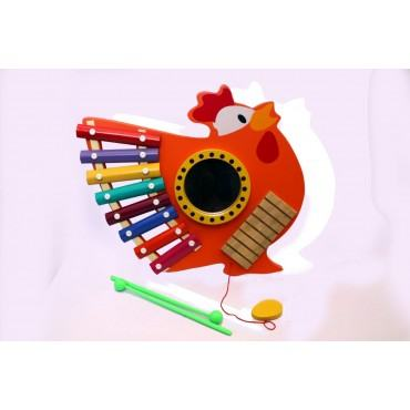 PATOYS 8 Note hen-cock Wooden Xylophone for Kids Toddlers Children Best Musical Toy for Nursery Kids