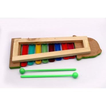 PATOYS 8 Note Wooden Xylophone for Kids Toddlers Children Best Musical Toy for Nursery Kids