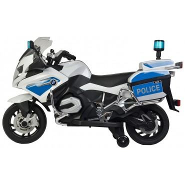 PATOYS Officially Licensed BMW 212 Police Motorcycle Battery Operated Ride-on Bike for Kids up to 7 years