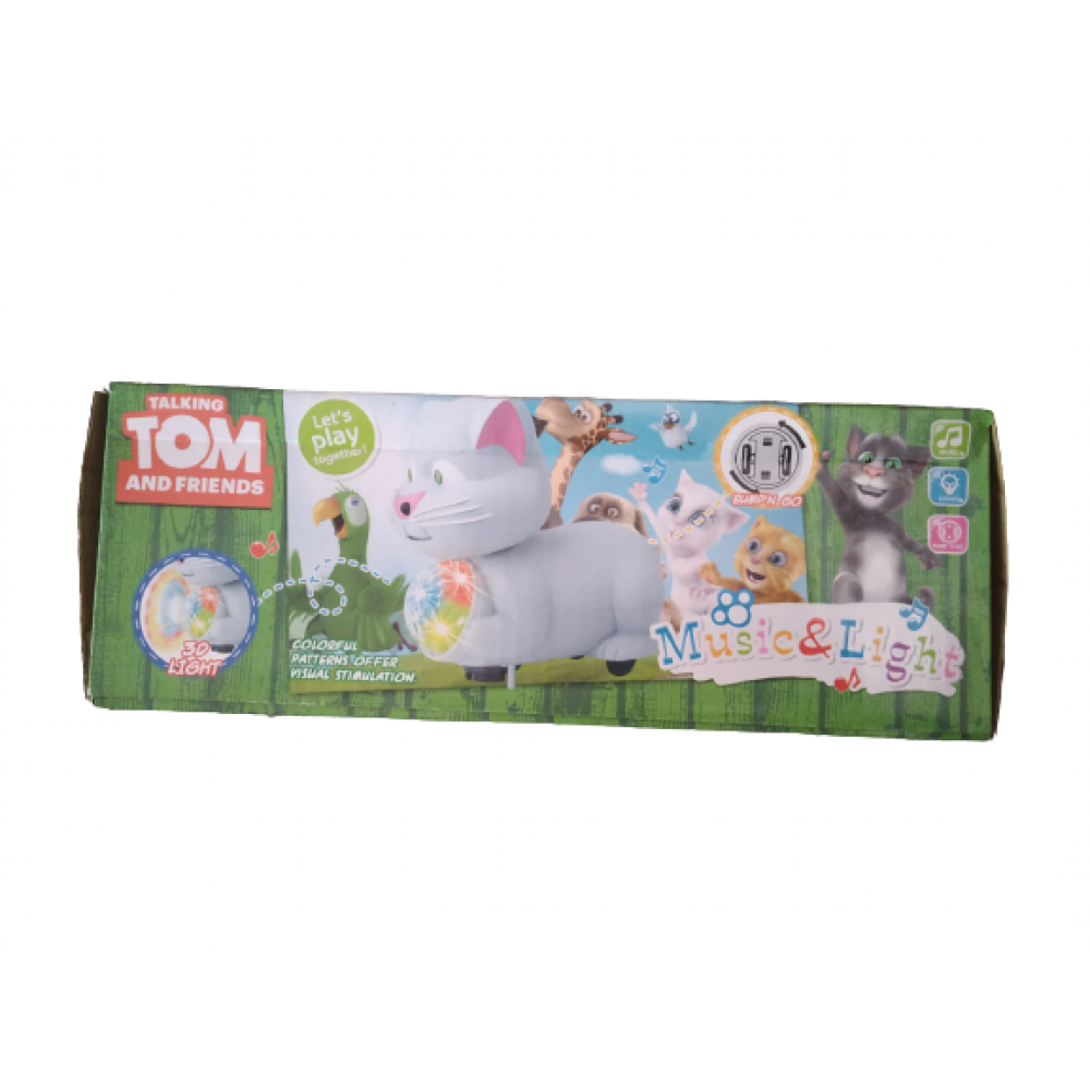 PATOYS Talking Tom and Friends Musical Tom with 3D Disco Light, Bump and Go Action
